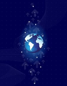 Free Abstract Background With World Map Royalty Free Stock Photos - 17801088