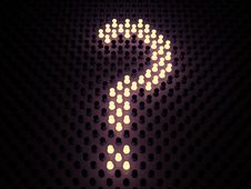 Free Luminous Sign Of Question Stock Images - 17801124