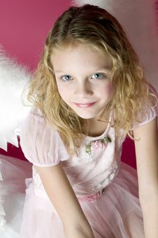 Free Little Angel Girl Royalty Free Stock Images - 17801319