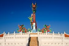 Free Chinese Style Dragon Statue, Taken In Thailand Stock Images - 17801534