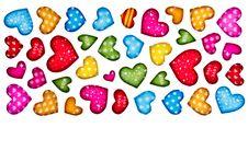 Free Colorful Heart Shape Isolated On White Background Stock Image - 17801631