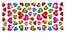 Free Colorful Heart Shape Isolated On White Background Royalty Free Stock Photos - 17801748