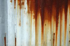Free Rusty Corrugated Royalty Free Stock Photography - 17802587