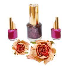 Many New Nails Polish Stock Photo