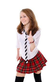 Cute Girl Giving OK Sign Royalty Free Stock Images