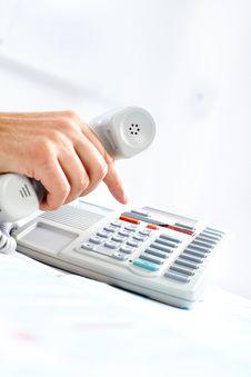 Free Businessman With Telephone Stock Photos - 17804173