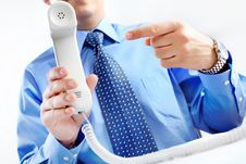 Free Businessman With Telephone Royalty Free Stock Images - 17804179