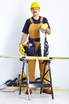 Free Mature Contractor Royalty Free Stock Photos - 17804288