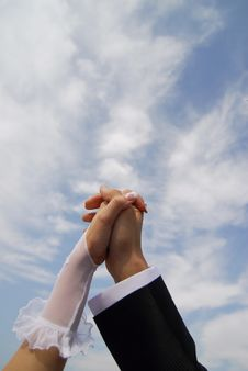 Free Bride And Groom Holding Hands Royalty Free Stock Photo - 17804295