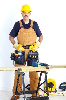 Free Mature Contractor Royalty Free Stock Images - 17804309