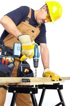 Free Construction. Worker Royalty Free Stock Photo - 17804345