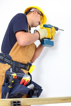 Free Construction. Mature Contractor Royalty Free Stock Photography - 17804357