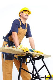 Mature Contractor Stock Image