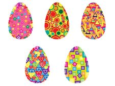 Free Colorful Easter Eggs Royalty Free Stock Photography - 17804487