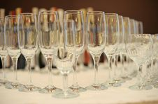 Free Empty Glasses Royalty Free Stock Image - 17804736