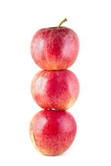 Free Three Red Ripe Apples Royalty Free Stock Photo - 17805055