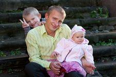 Free Family On Summer Walk Stock Photos - 17805233