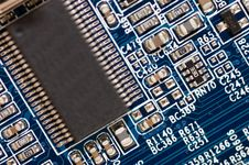 Detail Of Computer Circuit Board Royalty Free Stock Photos