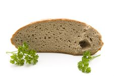 Free Fresh Bread With Parsley Stock Photography - 17805462