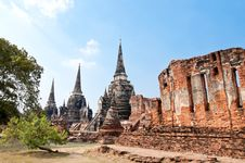 Ruin Pagoda In Thailand Stock Photo