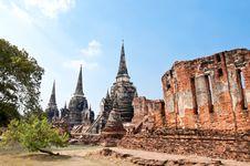 Free Ruin Pagoda In Thailand Stock Photo - 17805770