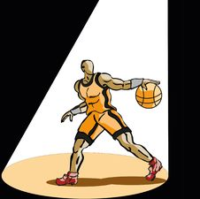 Free Basketball Player Royalty Free Stock Photography - 17805827