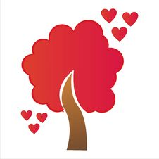 Free St. Valentine S Day Tree With Hearts Stock Image - 17806111