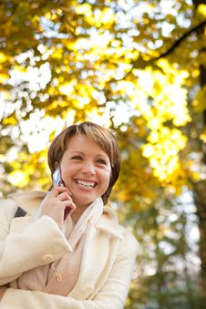 Free Charming Young Woman With Mobile Phone Royalty Free Stock Photo - 17806185