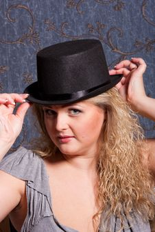 Free Charming   Woman In A Hat Stock Image - 17806201