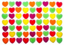 Free Heart Shape Colorful Jelly Coated With Sugar Stock Photos - 17806513
