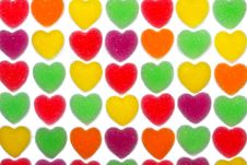 Free Heart Shape Colorful Jelly Coated With Sugar Royalty Free Stock Image - 17806546