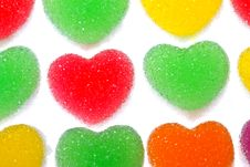 Free Heart Shape Colorful Jelly Coated With Sugar Stock Images - 17806714