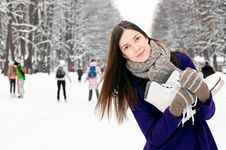 On The Ice Rink Royalty Free Stock Images