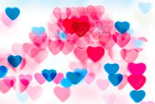 Free Colorful Heart Shape Background Stock Image - 17807561