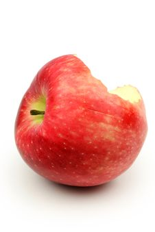 Free Bitten Red Apple Stock Photography - 17807652