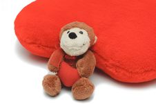 Free Little Teddy-bear Holding Red Heart Royalty Free Stock Photos - 17807958