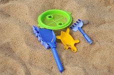 Beach Toys In The Beach Royalty Free Stock Photos