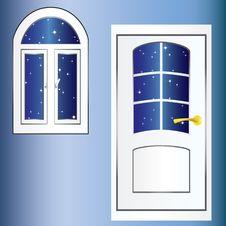 Door And Window. Stock Photos
