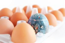 Free Easter Egg In The Box Stock Photography - 17808422