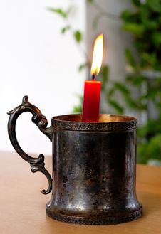 Free Candlestick On The Table. Royalty Free Stock Images - 17808729