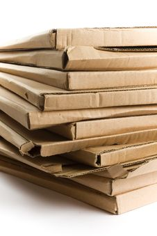 Free Stacked Renewable Card Board Material Stock Image - 17808911