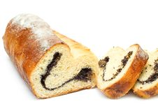 Free Home-baked Roll With Poppy Seeds And Raisins Stock Image - 17809001