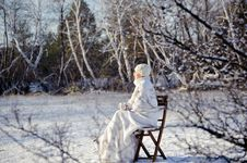 Free Woman In Winter Forest Royalty Free Stock Photo - 17809035