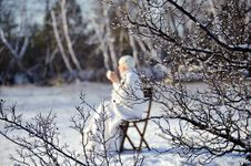 Free Woman In Winter Forest Royalty Free Stock Image - 17809066