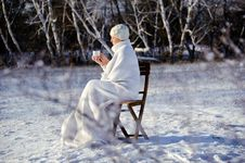 Free Woman In Winter Forest Royalty Free Stock Photo - 17809145
