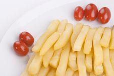 Free Fried Potato With Tomatoes Stock Photo - 17809650