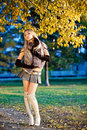 Free Beautiful Woman Portrait In Natural Autumn Royalty Free Stock Image - 17817616