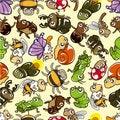 Free Seamless Bug Pattern Royalty Free Stock Photography - 17819537