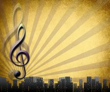 Free Musical Key Background In Retro Royalty Free Stock Image - 17810346