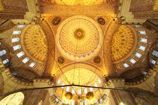 Free Golden Mosque - Interior Royalty Free Stock Image - 17810356